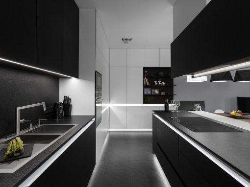 Monochromatyczny apartament